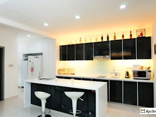 Terrace @ Saraca Place:  Kitchen by AgcDesign,Modern