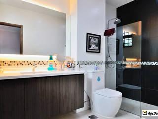 Terrace @ Saraca Place:  Bathroom by AgcDesign,Modern