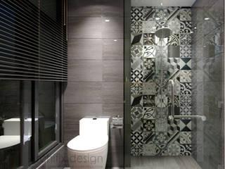 Công Ty TNHH Archifix Design Kamar Mandi Modern Grey