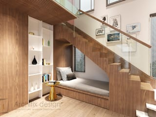 Cải tạo căn hộ Duplex -Lam Sơn - Tân Bình:  Cầu thang by Công Ty TNHH Archifix Design