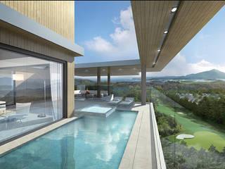 Modern Pool by 단감 건축사사무소 Modern