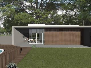 Casa 109: Casas familiares  por Machado Fontana | Arquitetura e Interiores