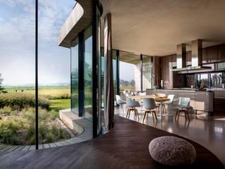 Interieurontwerp villa Yben Interieur en Projectdesign Moderne eetkamers