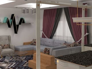 Salas de estilo moderno de Batool Moderno