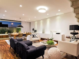 PROJETO RESIDENCIAL CONDOMÍNIO GIVERNY SP Salas de estar modernas por Dib Studio Arquitetura e Interiores Moderno