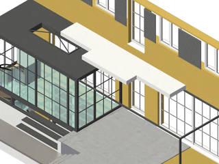 Perspektive mit Glasboden im Erdgeschoß:  Wintergarten von Gross Unternehmensgestaltung Innenarchitektur