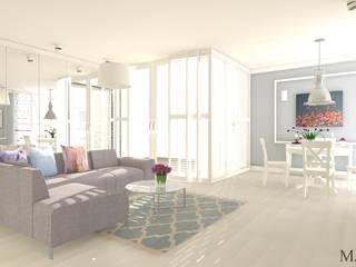 Petnhouse Nowoczesny salon od MJ-Atelier Nowoczesny