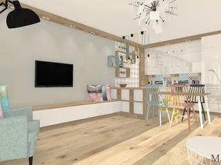 Mieszkanie na Wyżynach w Bydgoszczy: styl , w kategorii Salon zaprojektowany przez MJ-Atelier