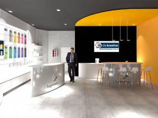 Showroom:  Geschäftsräume & Stores von Gross Unternehmensgestaltung Innenarchitektur
