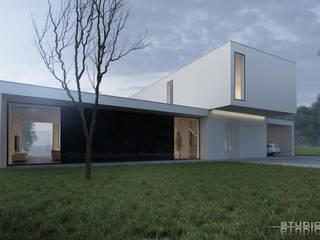Block House StudioA&W od Architekt Łukasz Bulga Studio A&W Kraków | Projekty domów nowoczesnych