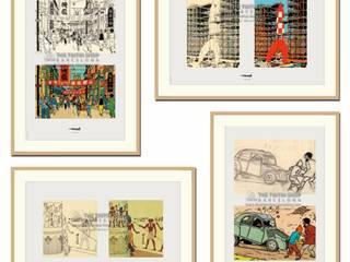 ENMARCACIONES: Pasillos y vestíbulos de estilo  por Galeria Marqueteria ARTE & MARKO, Moderno