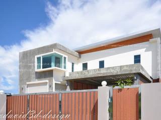 บ้านพักอาศัย2ชั้น modern loft จ.ฉะเชิงเทรา คุณชิตณรงค์ฯ โดย fewdavid3d-design โมเดิร์น