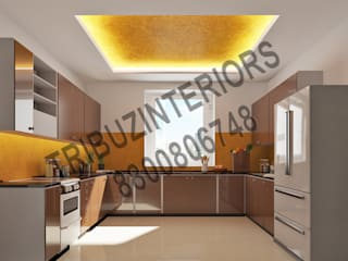 Kitchen by Tribuz Interiors Pvt. Ltd., Modern