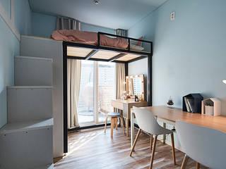 غرفة الميديا تنفيذ 단감 건축사사무소 , حداثي