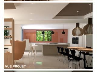 Rénovation maison à Cluny: Salle à manger de style  par BRUNO BINI