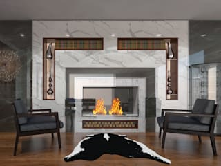AKSESUAR DESIGN Living roomFireplaces & accessories Keramik
