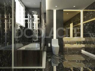 Projeto de Interior de Estudo de Render: Banheiros  por D'Colacite - Arquitetura e Interiores,Moderno