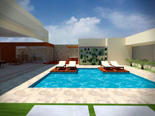Fávero Arquitetura + Interiores Piscinas de jardín