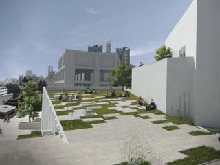 Concurso Edificio Practicas Musicales - Universidad de los Andes Jardines de invierno de estilo moderno de Bustos + Quintero arquitectos Moderno