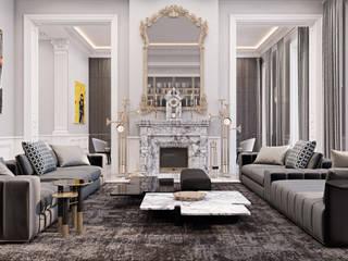Salas / recibidores de estilo ecléctico por Diff.Studio