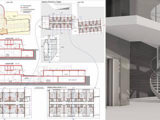 Ristrutturazione Agriturismo Lago di Garda Spazi commerciali moderni di Studio Maggiore Architettura Moderno
