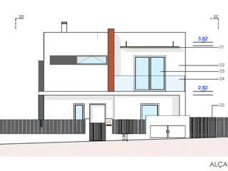 Alçado Principal: Habitações multifamiliares  por Teresa Ledo, arquiteta