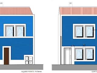 Moradia 1 - alçados:   por Teresa Ledo, arquiteta