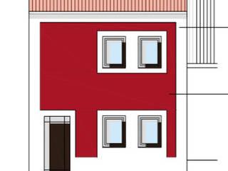 Alçado Principal - moradia 2:   por Teresa Ledo, arquiteta
