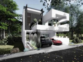 Fachada Principal: Casas de estilo moderno por gciEntorno