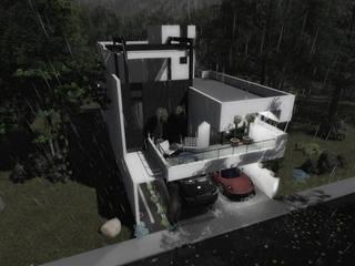 Vista Aérea: Casas de estilo moderno por gciEntorno