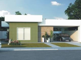Residências de 2 dorm.: Casas familiares  por D'Ateliê,Moderno