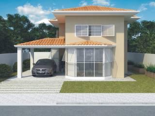 Residências de 2 dorm.: Casas familiares  por D'Ateliê,Eclético
