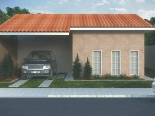 Residências Populares: Casas familiares  por D'Ateliê,Eclético