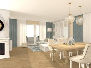 Dom w stylu nowojorskim: styl , w kategorii Jadalnia zaprojektowany przez MJ-Atelier