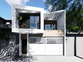 Perspectiva Frontal: Casas de estilo  por gciEntorno