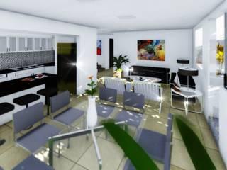 Comedor y Sala de estar: Comedores de estilo moderno por gciEntorno