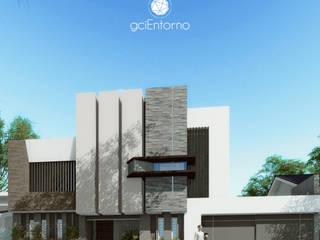 Fachada frontal: Casas de estilo moderno por gciEntorno