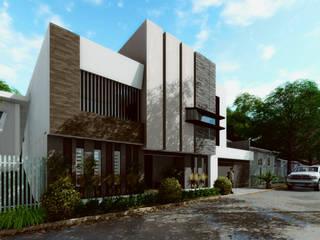 Vista Sur: Casas de estilo moderno por gciEntorno