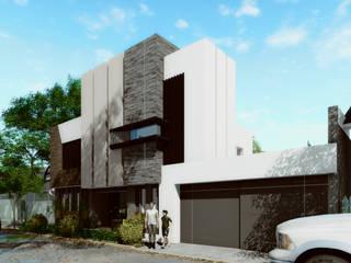 Vista Norte: Casas de estilo moderno por gciEntorno