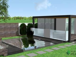 Projekt altany na wodzie Nowoczesny ogród od Design We Are 3D Nowoczesny