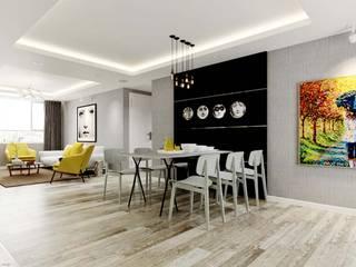 nội thất căn hộ:  Phòng ăn by thiết kế kiến trúc CEEB