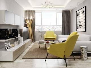 nội thất căn hộ:  Phòng khách by thiết kế kiến trúc CEEB