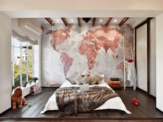 SAGA Design Modern style bedroom Solid Wood Multicolored