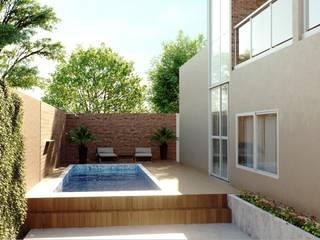 Residência CF Piscinas modernas por Dimensione Arquitetura Moderno