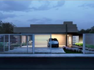 Residência HA por Dimensione Arquitetura Moderno