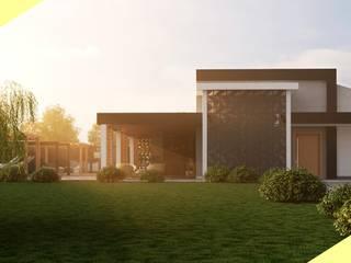 Reforma de Fachada Residência DL por Dimensione Arquitetura