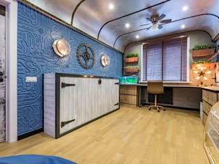 Стимпанк на субмарине: Спальни для мальчиков в . Автор – Школа Ремонта, Эклектичный
