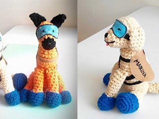 Frida y Eco amigurumi:  de estilo  por Decorartegrace