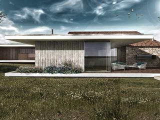 Projecto de Reabilitação e Ampliação : Casas modernas por Daniel Antunes