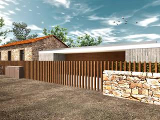 vista estrada: Casas modernas por Daniel Antunes